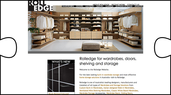 Australian based Rolledge had their showcase website designed and built by Jigsaw Design