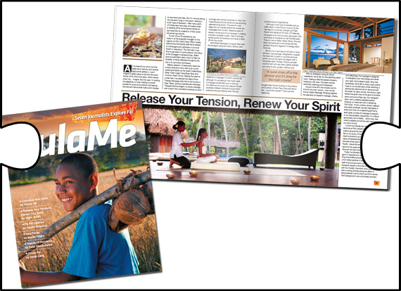 While at Qudos, Jigsaw Design was involved in the design and production of Tourism Fiji's insert magazine for the NZ Herald